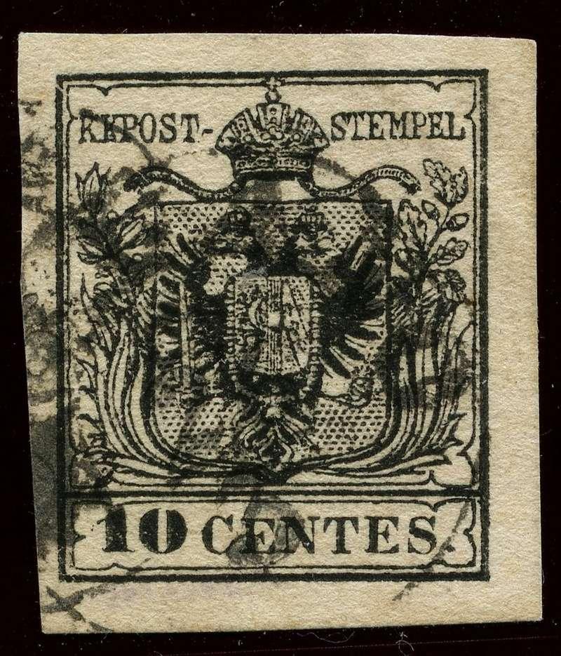 Briefmarken - Lombardei - Venetien 1850 - 1858 - Seite 4 2m_typ10