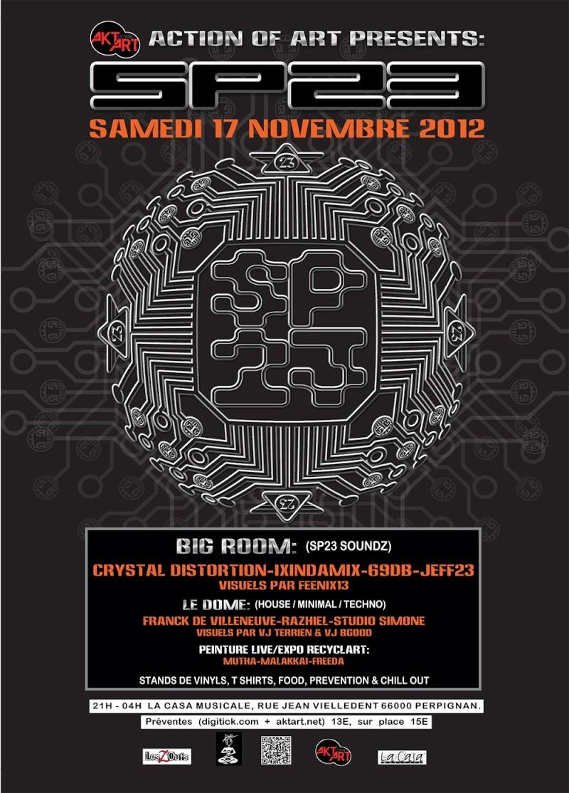 17/11/2012 - ACTION OF ART presents SP23 TOUR (66) Affich10