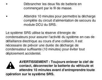 voyant SRS + anomalie airbag Airbag11