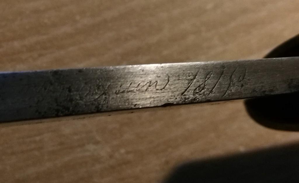 "Sabre Briquet ""Versailles"" Juin 1815 avec sa cravate Img_2027"