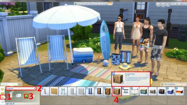 [Fiche] Emmener vos Sims et leur matériel à la plage grâce à trois mods: Beach mod, Life is a Beach Mod, Packing Crate Mod Image_14