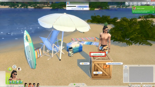 [Fiche] Emmener vos Sims et leur matériel à la plage grâce à trois mods: Beach mod, Life is a Beach Mod, Packing Crate Mod Image_26