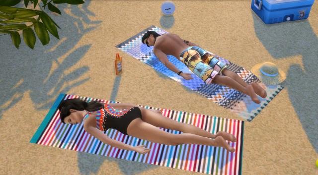 [Fiche] Emmener vos Sims et leur matériel à la plage grâce à trois mods: Beach mod, Life is a Beach Mod, Packing Crate Mod Pose_110