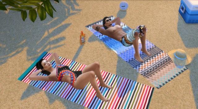 [Fiche] Emmener vos Sims et leur matériel à la plage grâce à trois mods: Beach mod, Life is a Beach Mod, Packing Crate Mod Pose_210