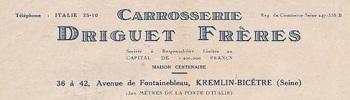 Carrosseries DRIGUET FRERES Paris Carros10