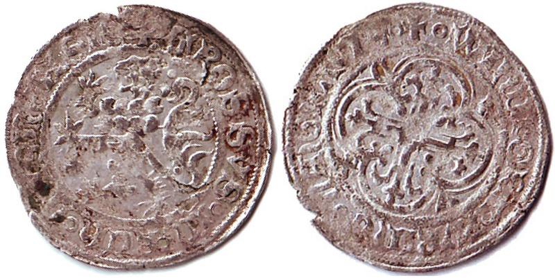 Jeton ? Non, Kreuzgroschen pour Wilhelm Ier (1381-1407) de Freiberg, Saxe  Leeuw11