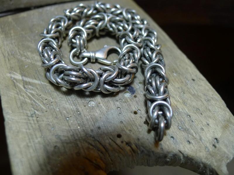 bracelet maille byzantine P1040811