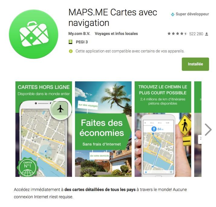 Logiciel Navigation Maps Me Maps_m10