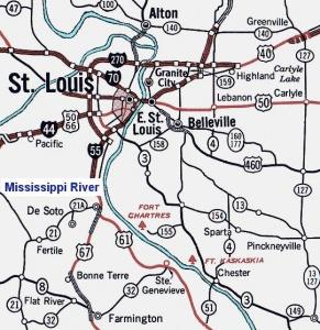 Le Fort de Chartres en Illinois 291x3010