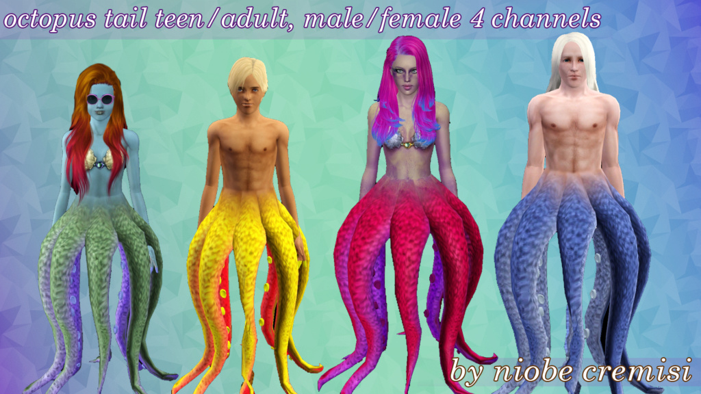[Sims 3 ou Sims 4] Disney vilains genderbend Octopu10