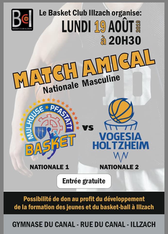 [J.00] Matchs de reprise : 1V - 1D / MPBA - Holtzheim : 85-71 A36