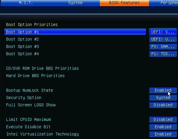 Aide  Gygabyte GA-Z77X-UD3H Intel core I7 3770k Biosfe10