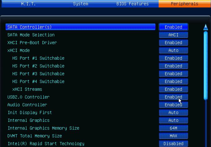 Aide  Gygabyte GA-Z77X-UD3H Intel core I7 3770k Periph10
