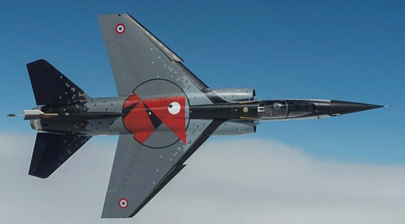 Mirage III RD de ER 3/33 Moselle en 1988 (Heller) Actual10