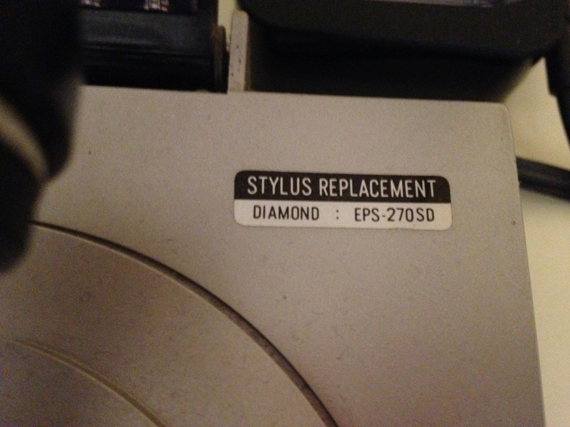 Cartuccia Technics 270C sostituzione puntina Img_0211