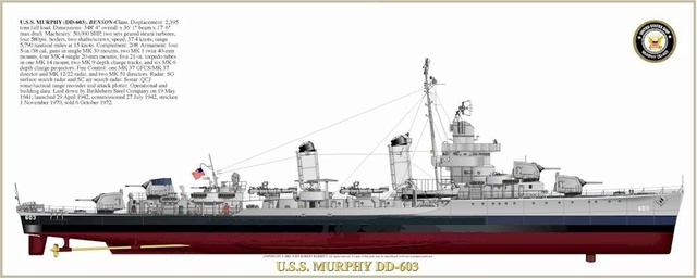 USS Murphy DD603 (Dragon 1/350 USS Laffey Classe Benson) 05603011