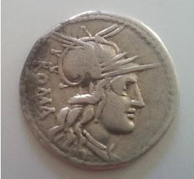 2 Deniers République Romaine en argent Denier10