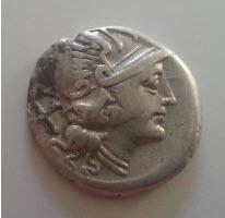 2 Deniers République Romaine en argent Denier12