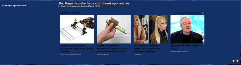Page de pubs liens soit disant sponsorisé Captur10