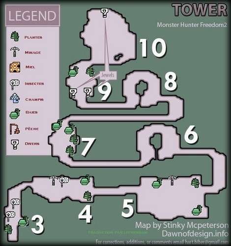 liste des map Tour210