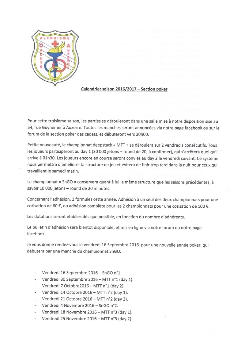 Calendrier saison 3 - 2016/2017  Calend12