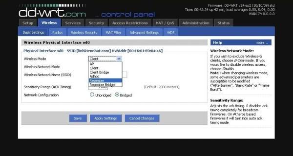 Hướng dẫn chung thiết lập cấu hình router BUFFALO up bản DD-WRT thu phát sóng Wifi Huongd14