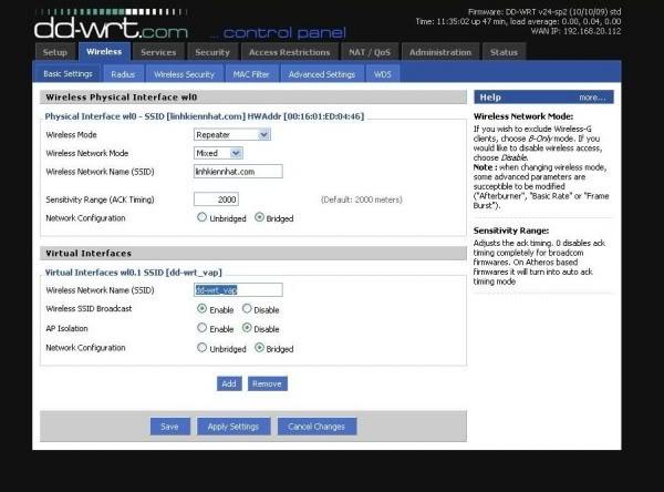 Hướng dẫn chung thiết lập cấu hình router BUFFALO up bản DD-WRT thu phát sóng Wifi Huongd16