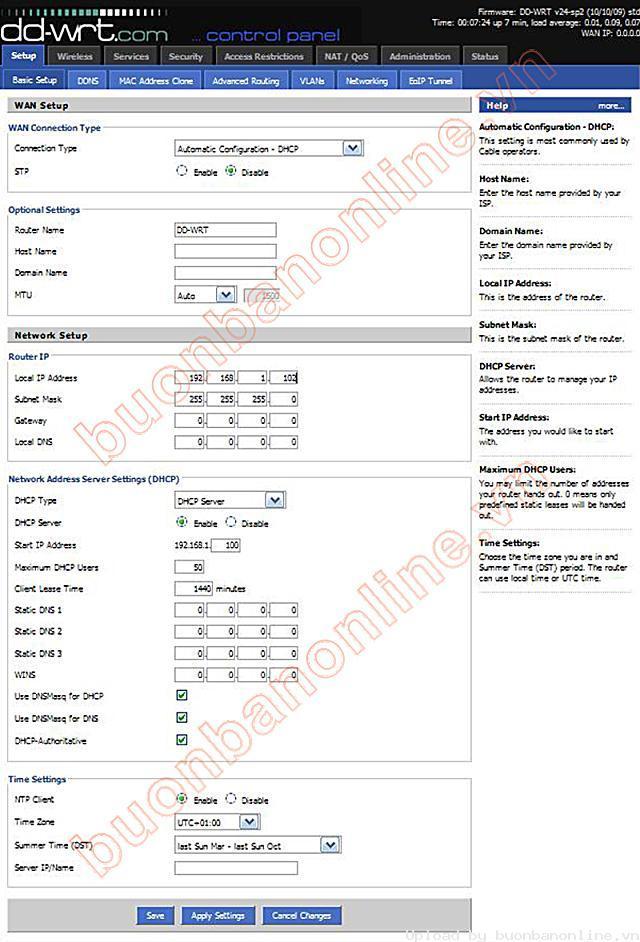 Hướng dẫn chung thiết lập cấu hình router BUFFALO up bản DD-WRT thu phát sóng Wifi I754_d10