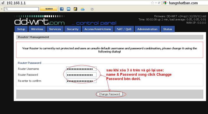 Hướng dẫn chung thiết lập cấu hình router BUFFALO up bản DD-WRT thu phát sóng Wifi Repeat10