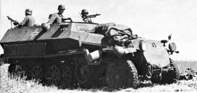 Les panzergrenadiers Sdkfz210