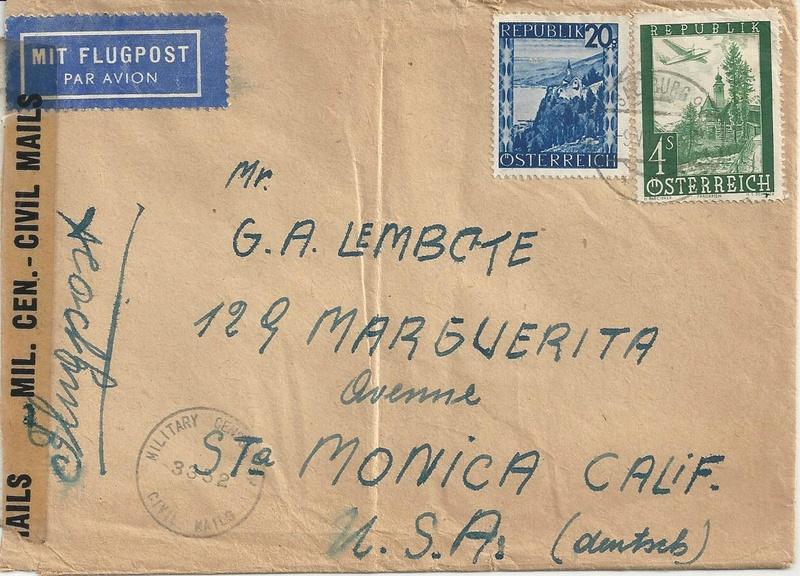 Flugpostausgabe 1947 Bild29