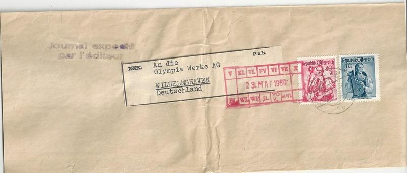 Trachtenserien ANK 887 - 923 und 1052 - 1072 Belege - Seite 9 Bild32