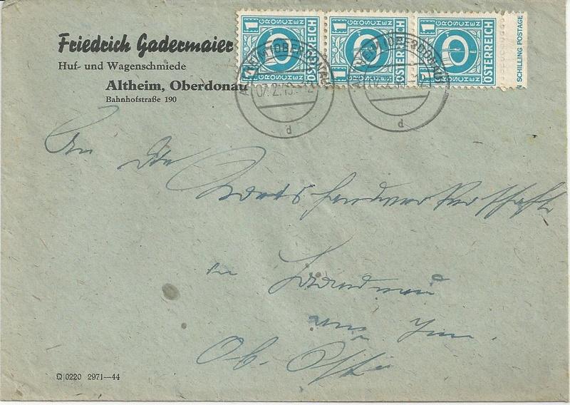 Posthornzeichnung  -  ANK 697-713  -  Belege - Seite 2 Bild39