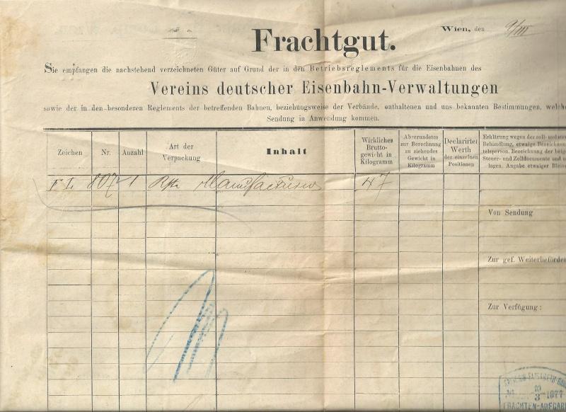 Frachtpost in Österreich / Transporte über Land Bild_212