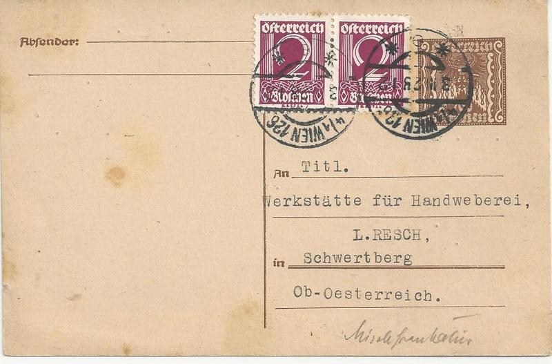 Inflation in Österreich - Belege - 1918 bis 1925 - Seite 7 Bild_230