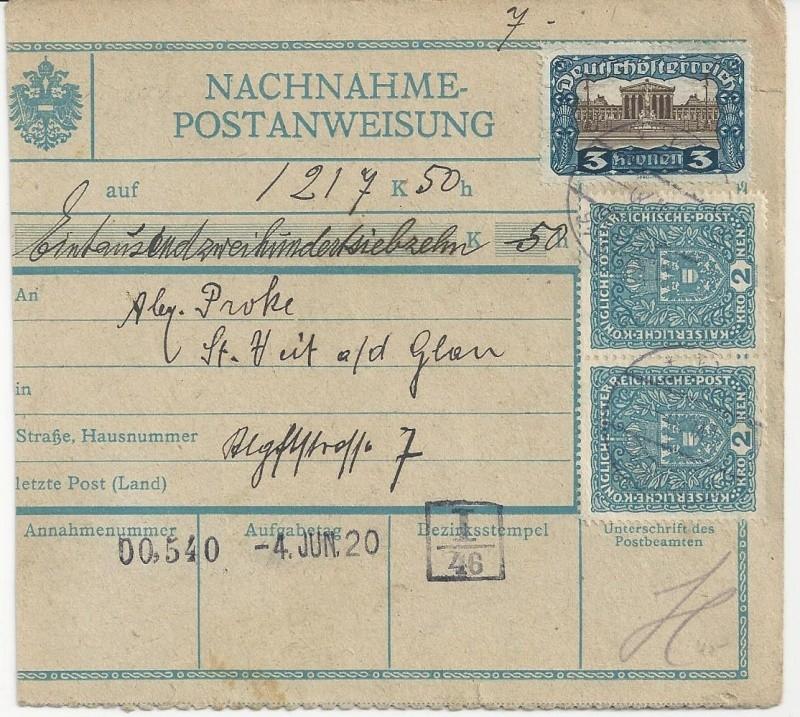 Inflation in Österreich - Belege - 1918 bis 1925 - Seite 7 Bild_321