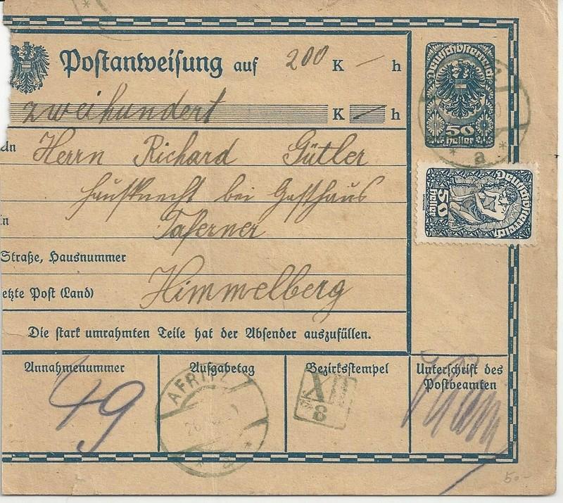Inflation in Österreich - Belege - 1918 bis 1925 - Seite 7 Bild_322