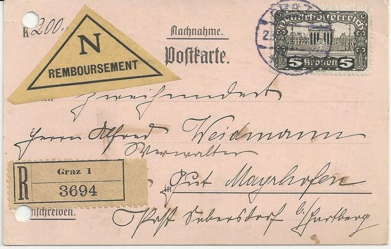 Inflation in Österreich - Belege - 1918 bis 1925 - Seite 7 Bild_330