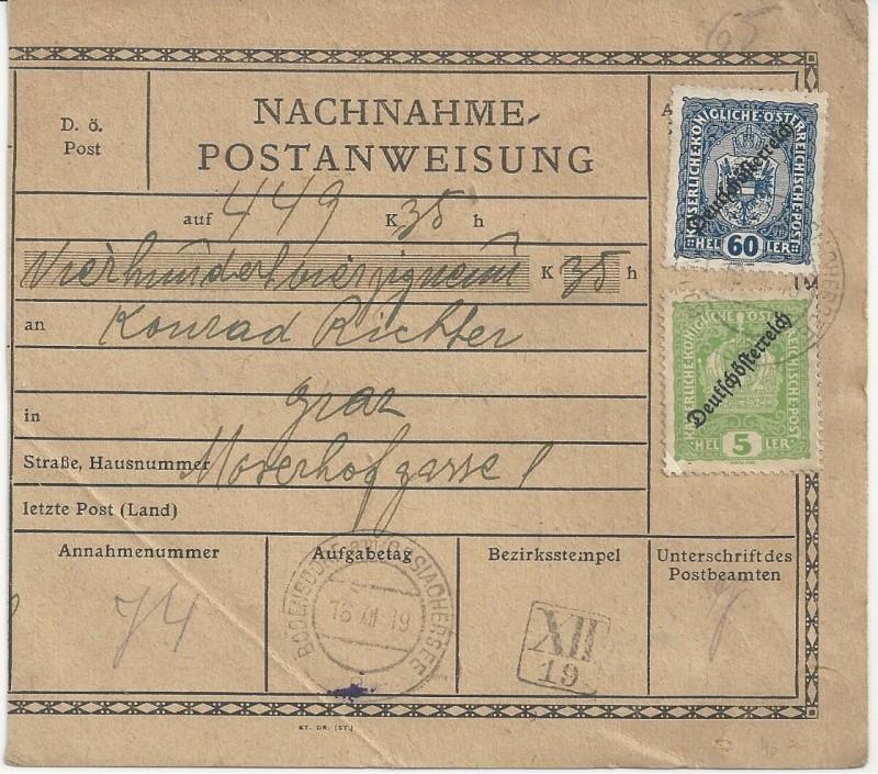 Inflation in Österreich - Belege - 1918 bis 1925 - Seite 7 Bild_414