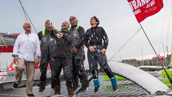 Lalou Roucayrol s'offre la victoire sur la Transat Québec-Saint Malo 13662110