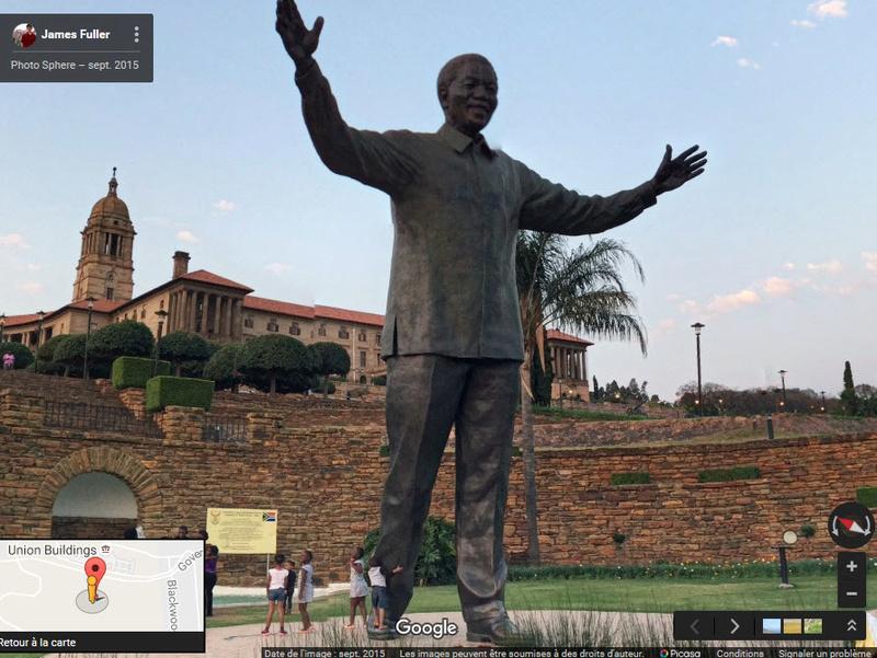 [Désormais visible sur Google-Earth] Statue de Nelson Mandela - Prétoria - Afrique du Sud 2016-018
