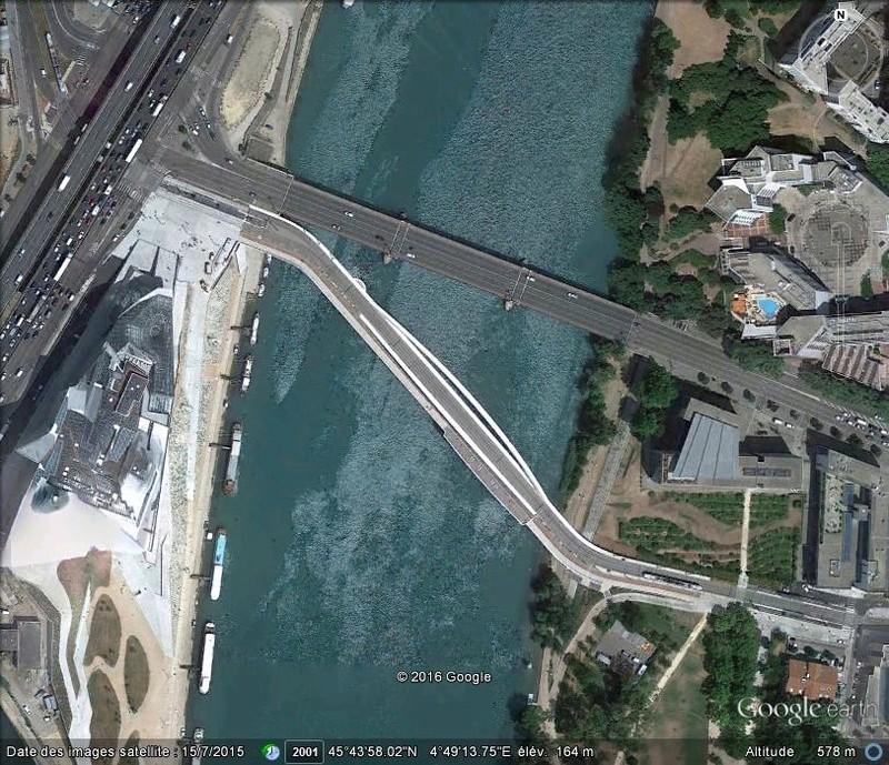 [Enfin visible sur Google Earth] - Futur pont Raymond Barre - Lyon B49