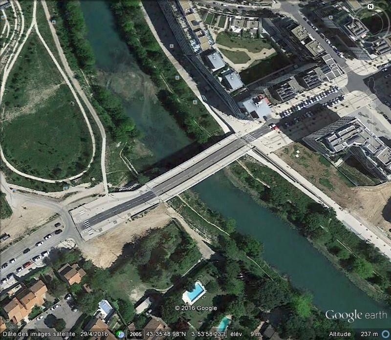 [Enfin visible sur Google Earth] - Montpellier Futur Pont de la République B52