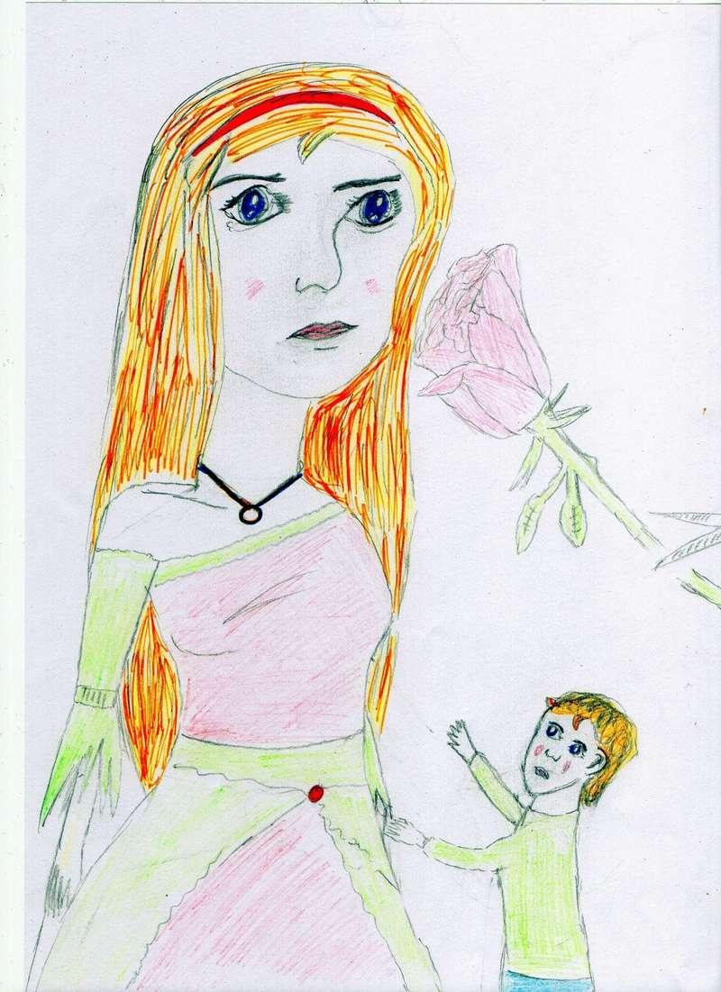 Quand je n'écris pas, je dessine mes personnages... Img01710
