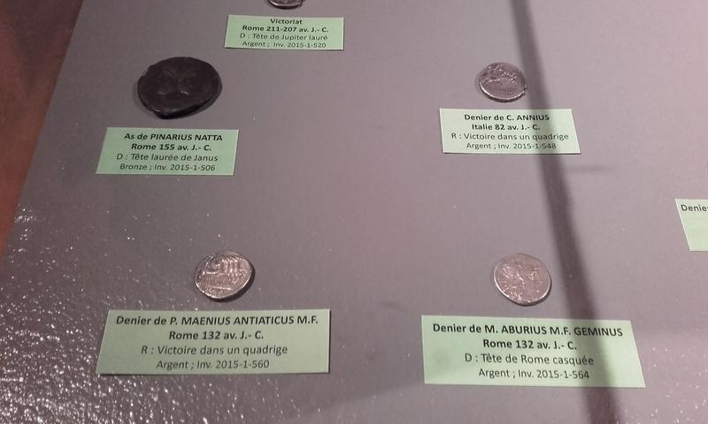 Exposition numismatique au musée d'argentomagus à St Marcel (36) 20160712