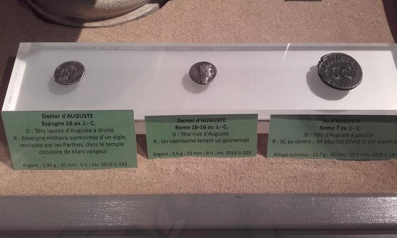 Exposition numismatique au musée d'argentomagus à St Marcel (36) 20160714