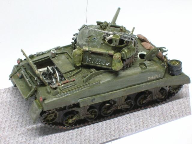 Sherman M4-A1 --ESCI 1/72 plus Jeep 1/4 ton Italeri 1/72 ----FINI------ Dscn4012