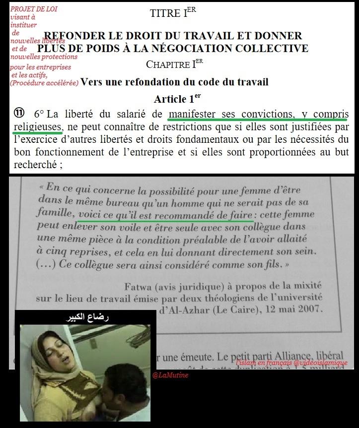 BUZZ Loi El Khomri Loi Travail : le plus mauvais service à rendre aux musulmans Islam_10