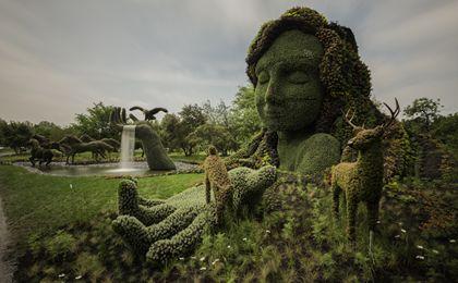 sculture viventi al giardino botanico di montreal Terre-10