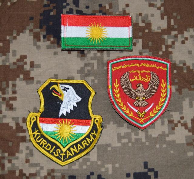 Kurdish army patch  Dsc_0811